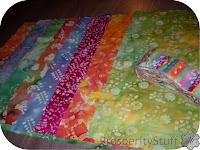 ProsperityStuff Modern Double Wedding Ring Quilt batik fabrics
