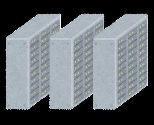 データセンターのイラスト(複数)