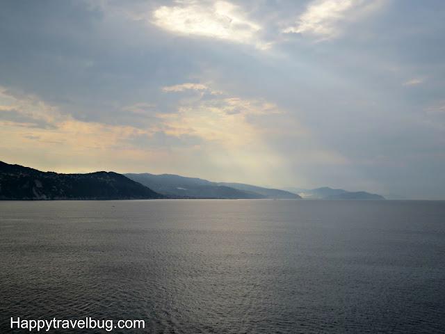 Northern Italian coastline