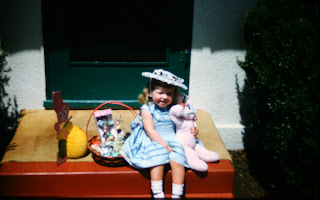 Easter, Easter bonnet, Bakersfield, California, rhubarb, hats, grandma, family history, genealogy