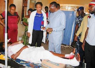 Senator Andy Uba Visit Victim of Anambra Church Attack
