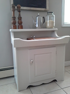 heirloom white dry sink cabinet