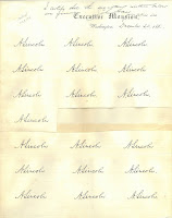 Sheet of nineteen Abraham Lincoln signatures on White House stationary from 1861