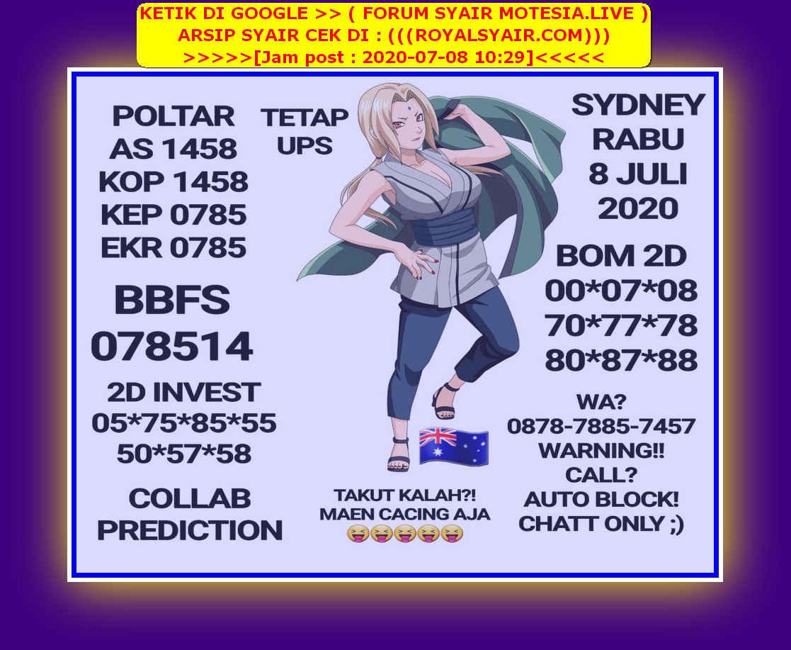 Kode syair Sydney Rabu 8 Juli 2020 34