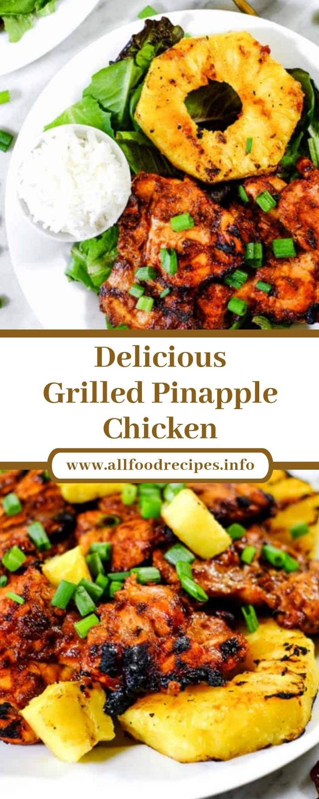 Delicious Grilled Pinapple Chicken