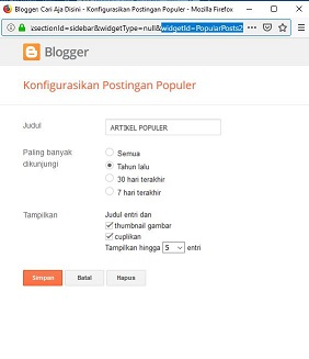 cara membuat sticky widget sidebar blog