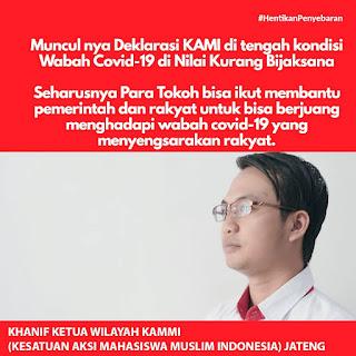 Kontroversi Deklarasi KAMI Tuai Kritik Tokoh Jawa Tengah