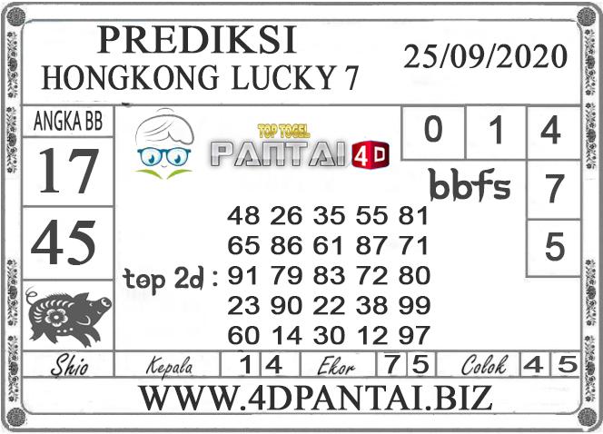 PREDIKSI TOGEL HONGKONG LUCKY 7 PANTAI4D 25 SEPTEMBER 2020