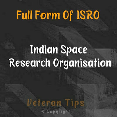 Full Form Of ISRO, isro full form, isro