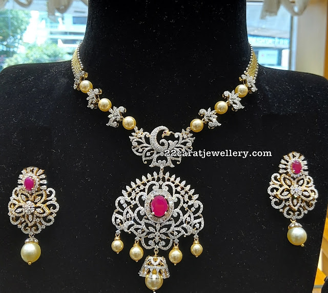 Diamond Pearl Set by Shankar Lal