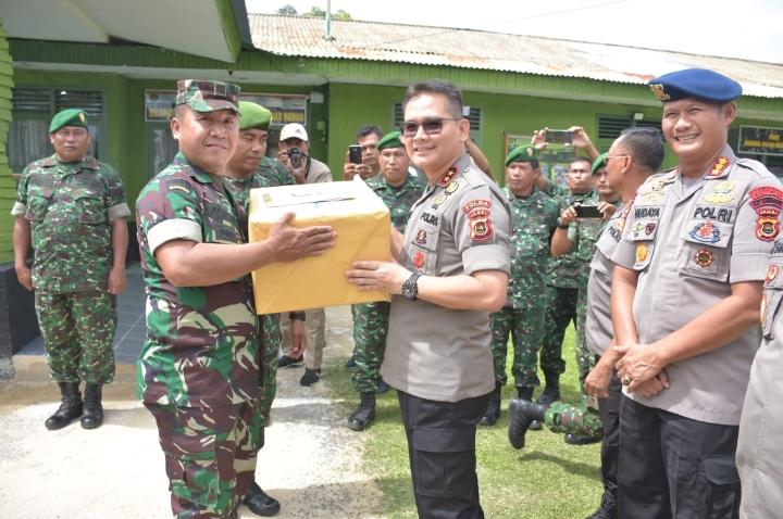 Kapolda Jambi Laksanakan Kunjungan Silaturahmi Sinergitas Ke Koramil 416-06 Muaro Bungo