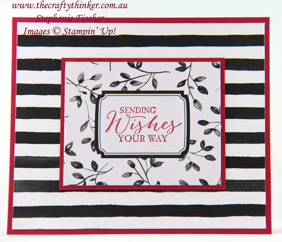 #thecraftythinker, #stampinup, #cardmaking, simple card, Petal Passion Memories & More, Black White & Red card, Stampin' Up! Australia Demonstrator, Stephanie Fischer, Sydney NSW