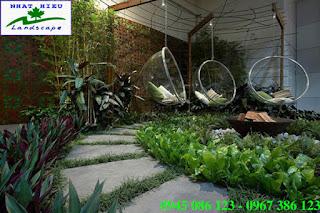 Thiết kế sân vườn đẹp và khác lạ