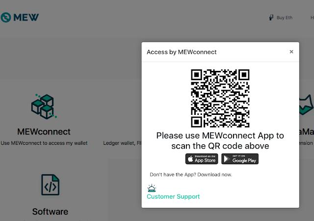 kết nối MEWconnect với ví MyEtherWallet để giao dịch