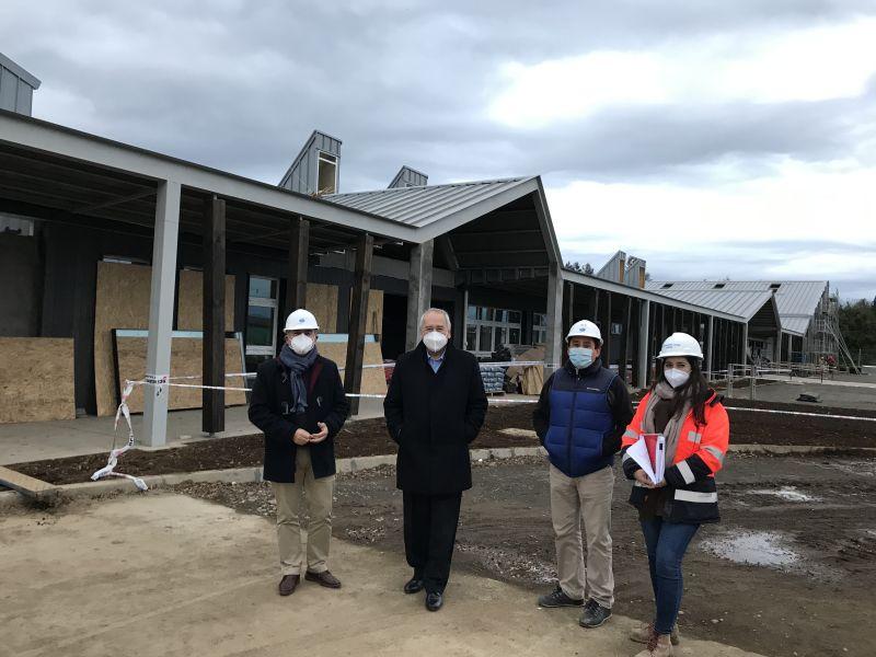 Osorno: 72% de avance de Escuela Rural Walterio Meyer