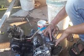 Cara Mengecat Blok Mesin Motor Warna Magnesium Brown