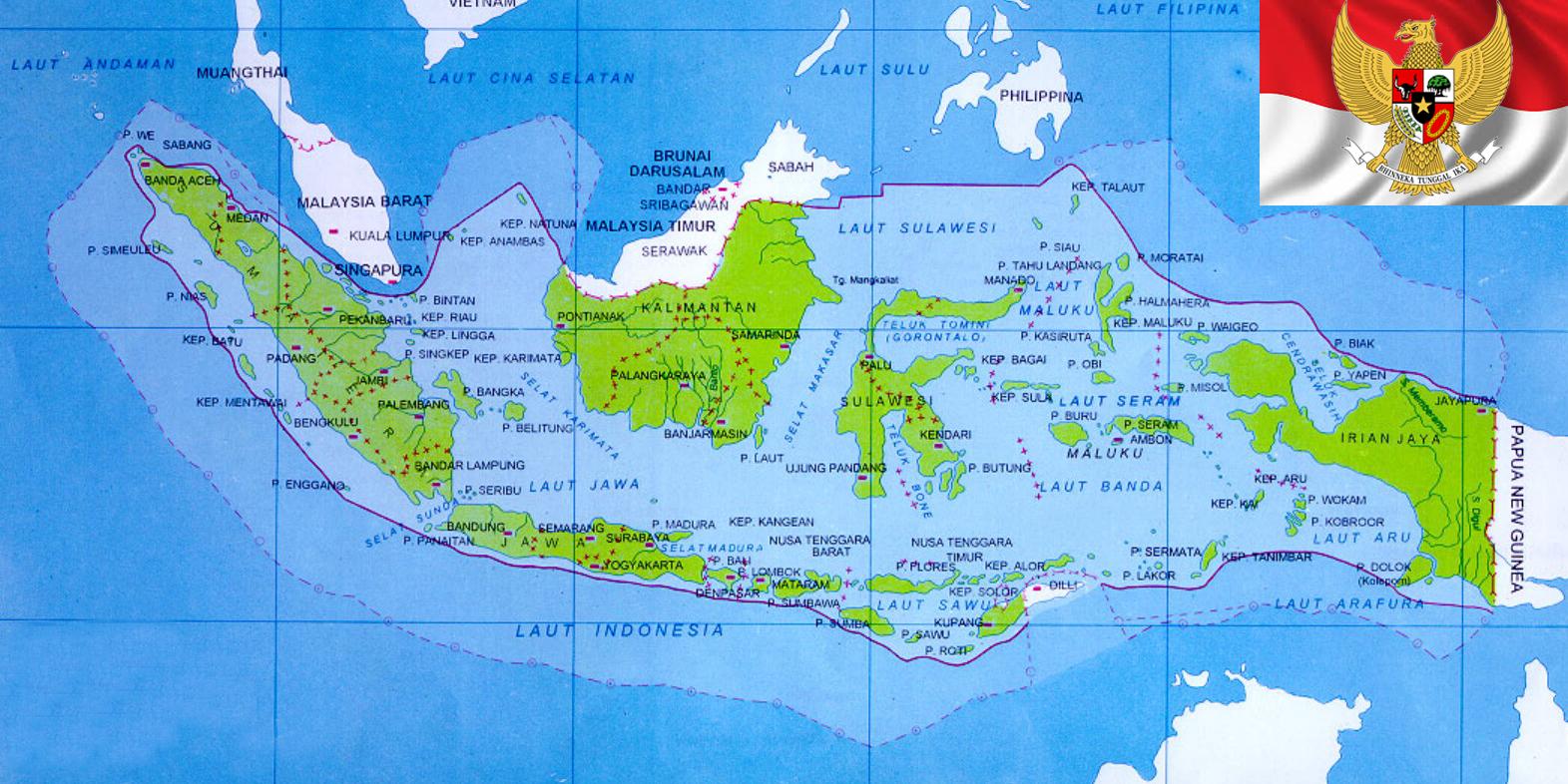 Peta Negara Kesatuan Republik Indonesia
