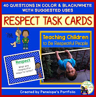 Respect Character Education - Social Skills Task Cards
