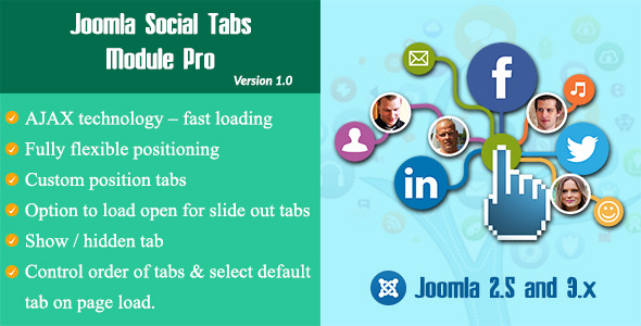 Joomla Social Tabs Module Pro – Codecanyon 12109777