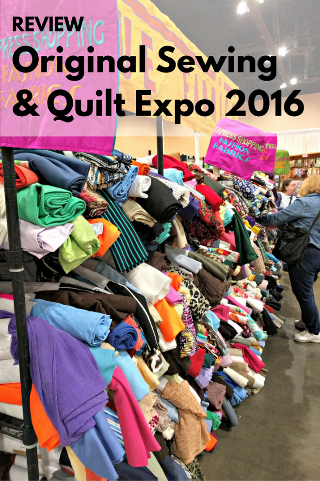 Vogue Fabrics sells textiles at the Sewing and Quilt Expo in Schaumburg, Illinois.