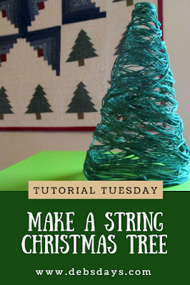 Homemade String Christmas Tree Home Decor Craft Project