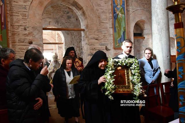 100 χρόνια από την εύρεση της θαυματουργής εικόνας γιορτάζει η Αγία Μονή στο Ναύπλιο (βίντεο)