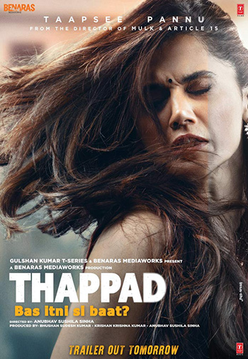 Thappad 2020 ORG Hindi Movie 720p HDRip 1GB DD5.1Ch ESubs poster