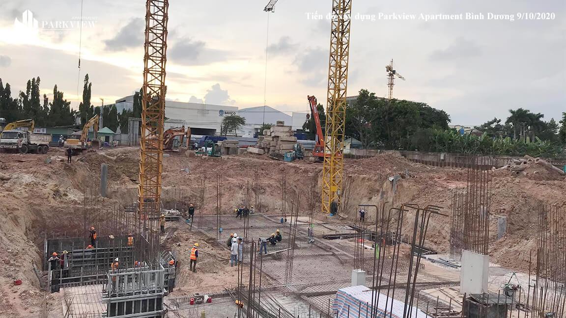 Tiến độ thi công xây dựng căn hộ Parkview Bình Dương