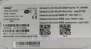 Cara Ganti Password Wifi Indihome | Modem ZTE GPON ONT Fiberhome HG6243C