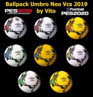 Ballpack Umbro Neo Pro Vcs 2019 For PES 2019 Ballserver By Vito