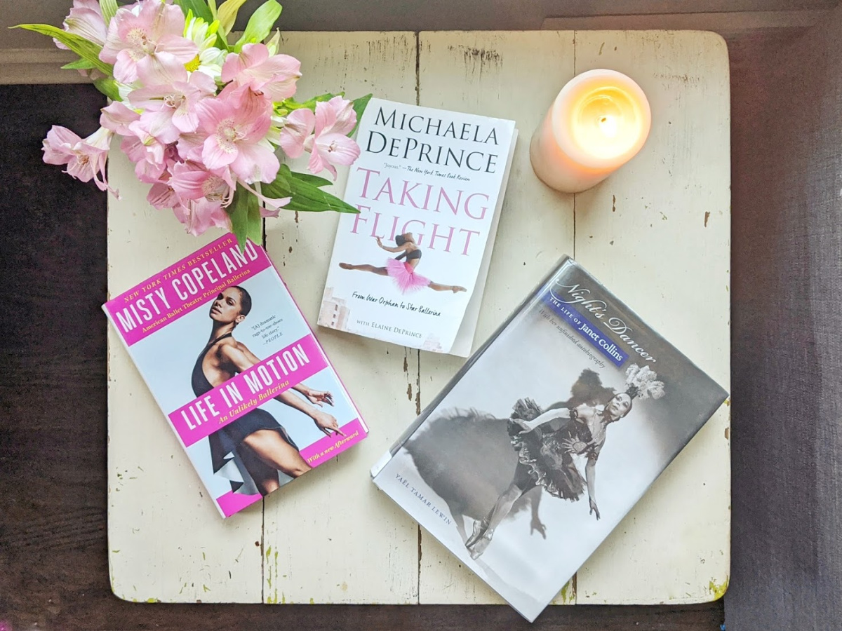 Photo of three autobiographies by African-American ballerinas.
