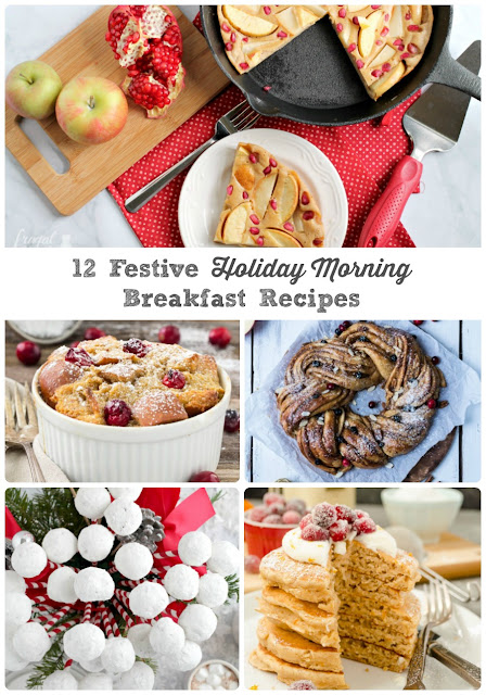 From simple & easy to impressive & well worth the extra effort, you are sure to find the perfect Christmas morning breakfast idea for your family in this collection of 12 Festive Holiday Morning Breakfast Recipes.