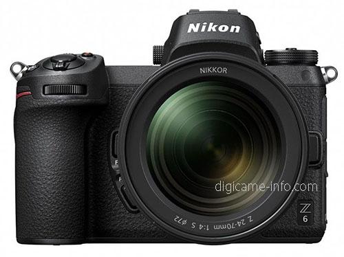 Nikon Z6, вид с объективом