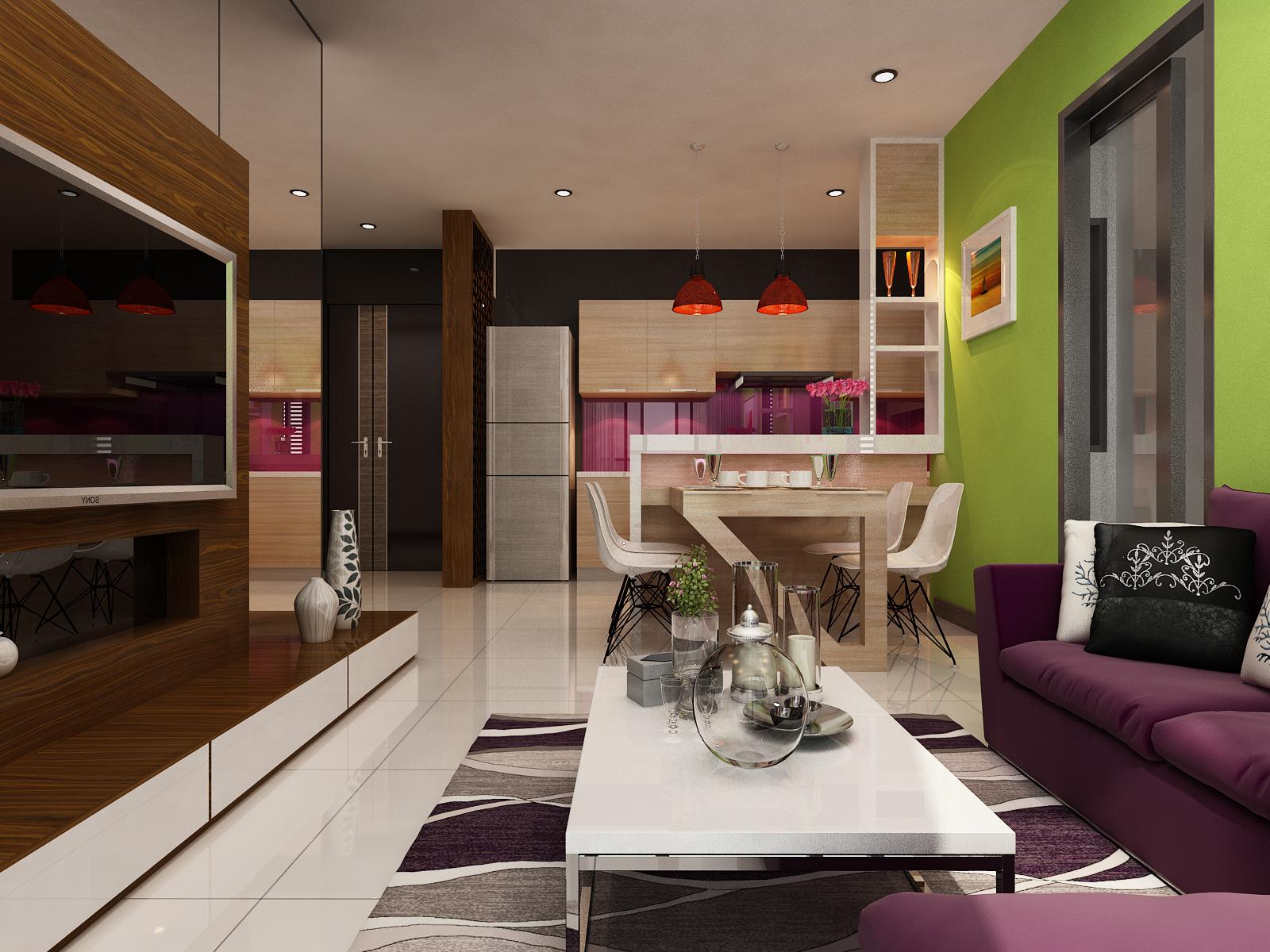 không gian phòng khách B1 - xigrandcourt