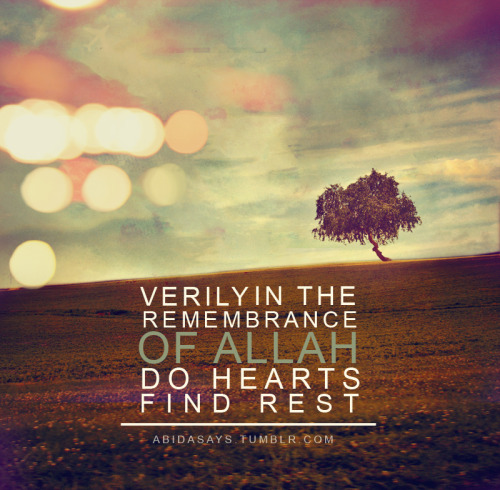 Allah Quotes - Verily in the remembrance of Allah
