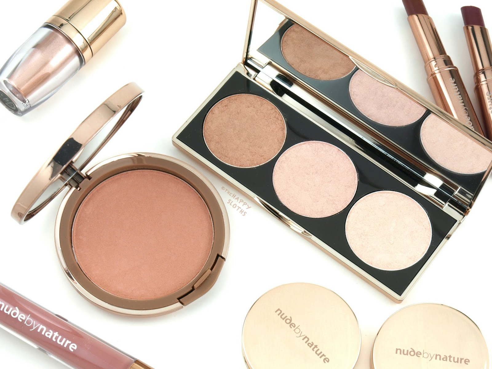 Nude by Nature   Cashmere Pressed Blush & Highlight Palette: Review and Swatches