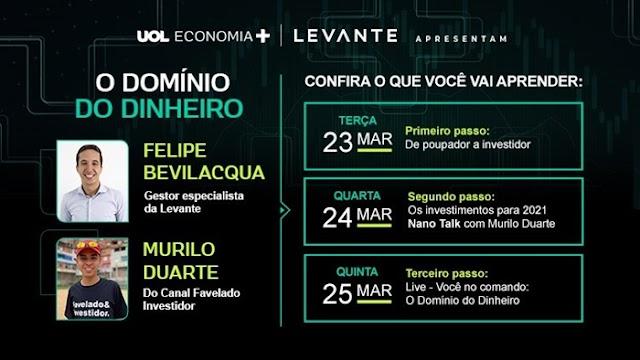 UOL Economia+ fecha parceria com Levante para oferecer recomendação de investimento
