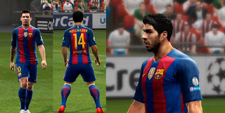 123Barcelona Home Kit 2016-2017 Pes 2013