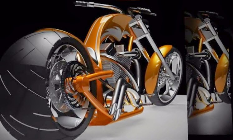 How to Create a chopper using SolidWorks and PhotoWorks - SolidWorks