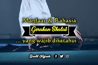 manfaat gerakan shalat yang wajib diketahui muslimin
