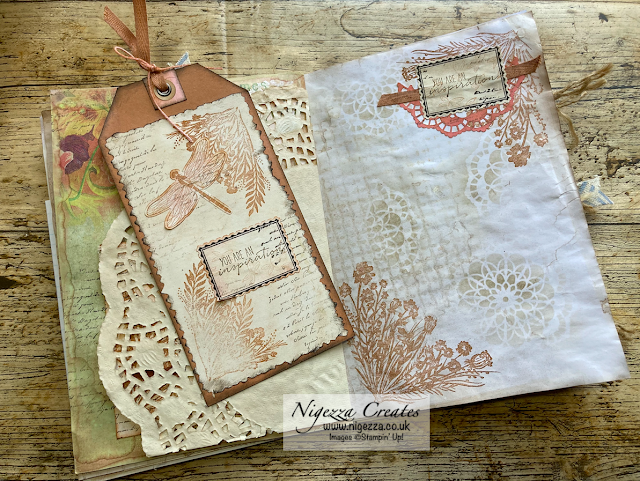 Vintage Days Journal Double Page Spread