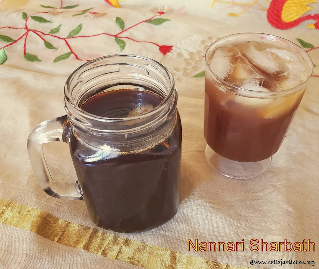 images of Nannari Sharbat Recipe  / Nannari Sarbath /  Nannari Syrup Recipe /  Homemade Nannari Syrup - Summer Drinks Recipes