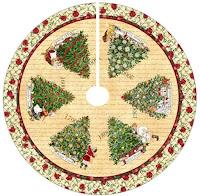 PIE DE ÁRBOL DE PANELES para Navidad