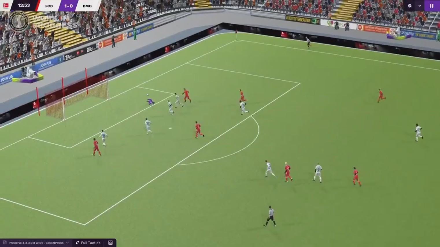 3D Match engine gameplay FM2021