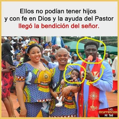 Ellos no podían tener hijos y con fe en Dios y la ayuda del Pastor llegó la bendición del señor
