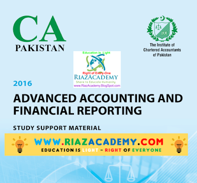 CFAP-01 Advanced Accounting and Financial Reporting 2016 - Study Text