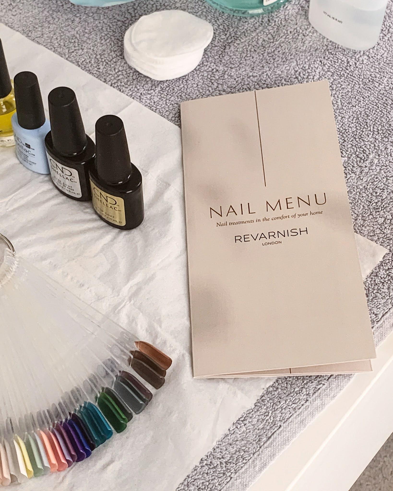 revarnish london nail menu blog review