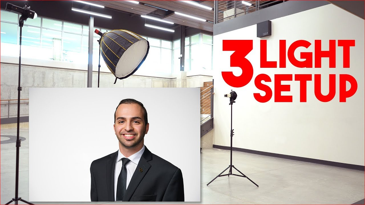 Simple 3 Light Flash Photography Setup for Location Portraits and Headshots