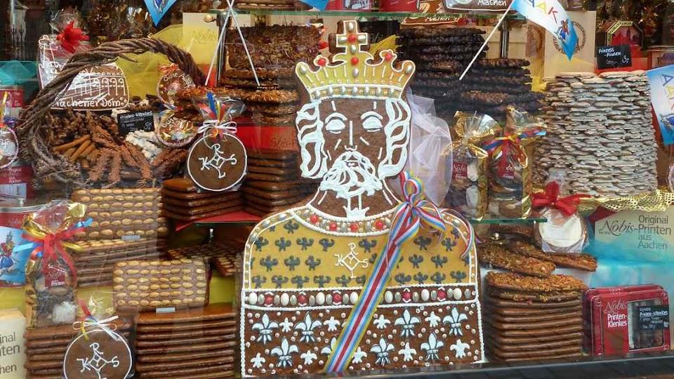 As Aachener Printen não podiam ter outro imperador senão Carlos Magno!
