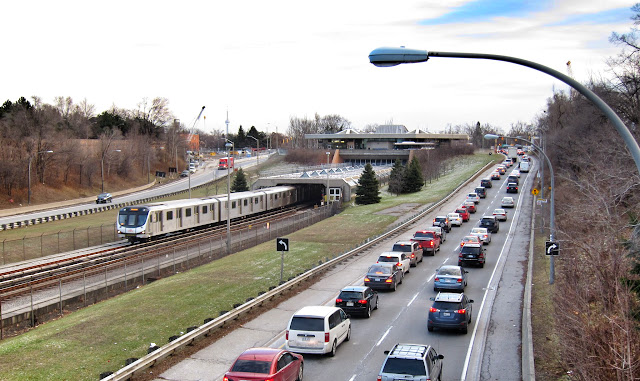 Eglinton West station and the Allen Expressway exit